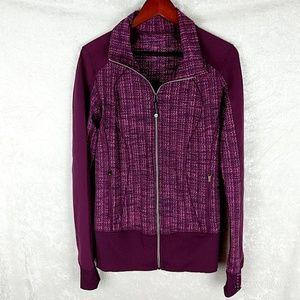 Lululemon purple/pink women's zip front jacket ta